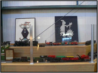 Model Trains on display at the museum
