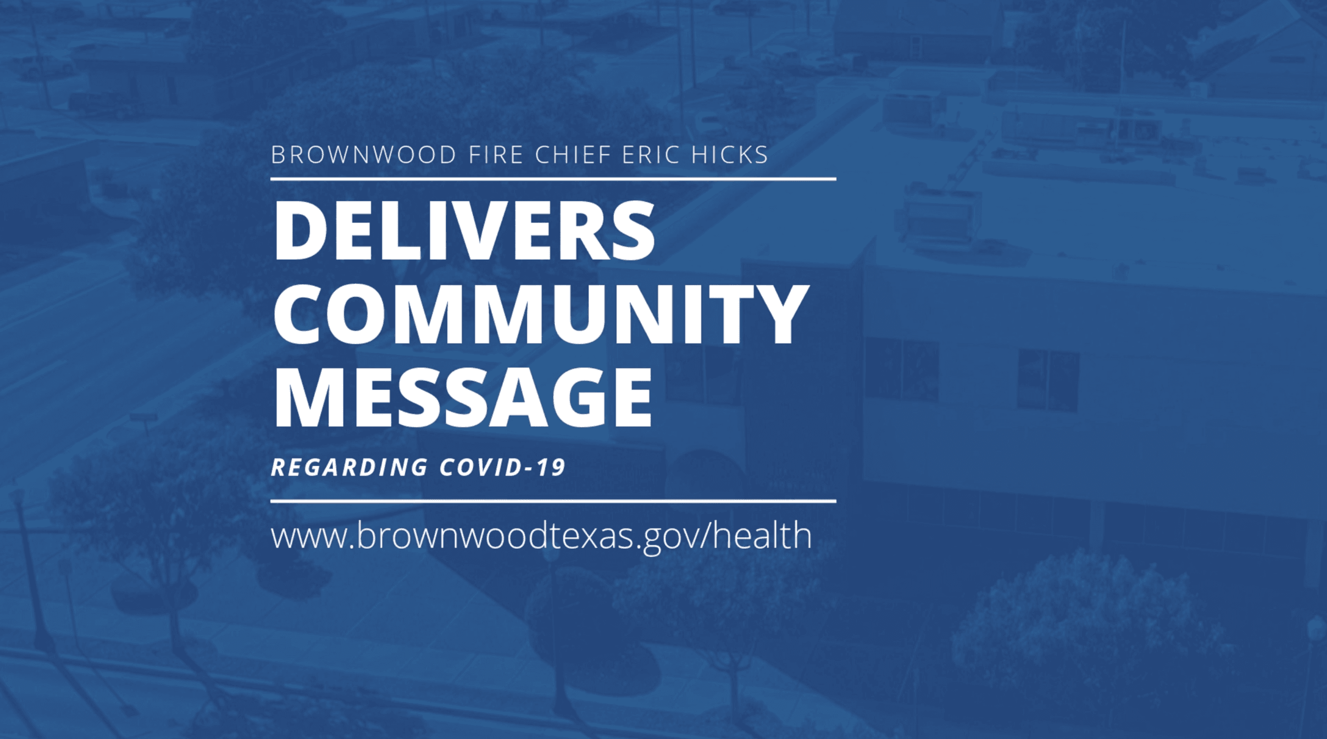 Fire Chief - Community message
