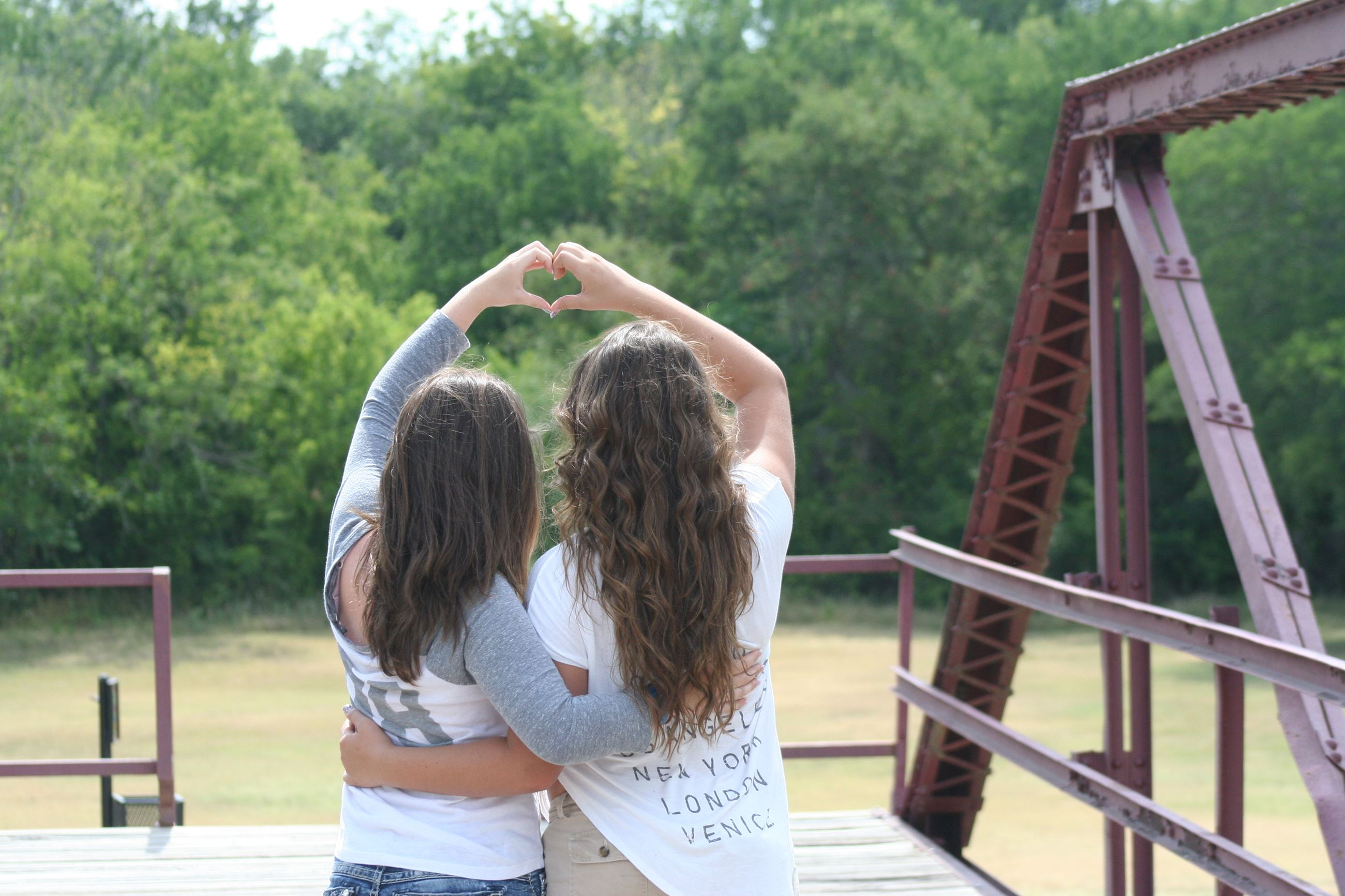 Girls with a Hand Heart submitted by Katherine Brooks